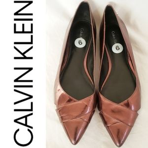 Calvin Klein Purple Copper Rose Flats